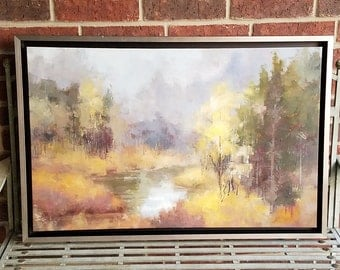 Framed Oil Painting - Abstract Landscape