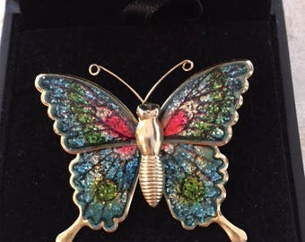 Vintage Butterfly Pin 1980s Vintage Brooch Vintage Jewelry