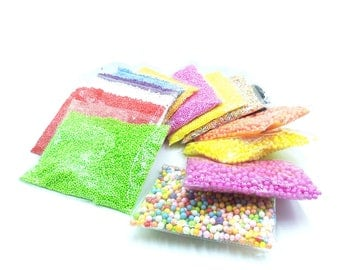 Color foam beads - Foam Beads For Slime - Colored Beads - Slime Beads - Micro Foam Beads - Fill the particles - diy creative materials