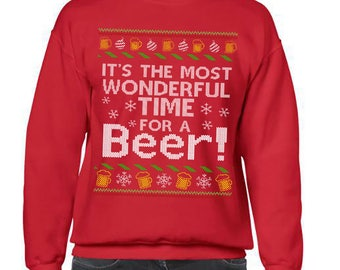 Ugly Christmas Sweater, Funny Beer Christmas Sweatshirt, Ugly Sweater Party, Ugly Sweater, Funny Christmas, Ugly Sweater Contest