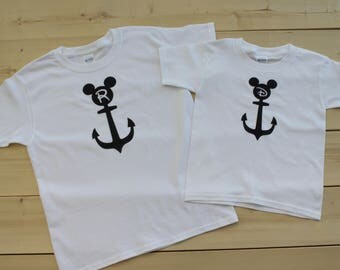 Disney Cruise Inspired Matching Family Shirts, Anchor Mickey and Minnie Inpired Matching Shirts, Disney Inpired Family Vacation Shirts
