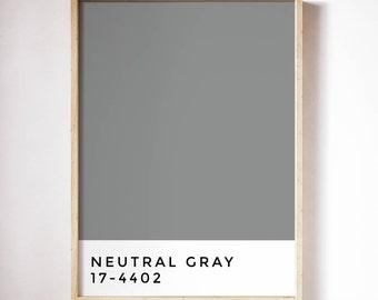 Neutral Gray / Colour Series / Prints / Home Decor / Art / Printables / Wall Art / Minimalist / Tumblr / Art Print / Poster / Scandinavian
