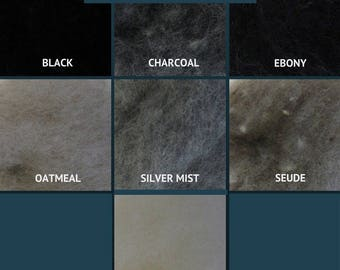 Harrisville Wool Fleece - The Neutrals - Wool Batt - Felting Fiber - Spinning Fiber - sold by the ounce