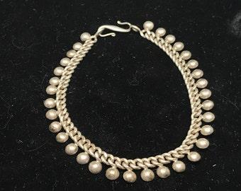Vintage Sterling SIlver Bali Bracelet MARKED