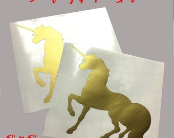 Golden Unicorn Decal