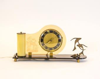 Art deco clock - Palmtag