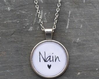 Cadwyn 'Nain' Necklace - Welsh - Cymraeg - Gift