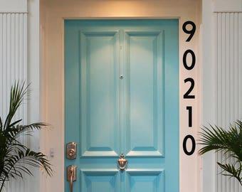 Vertical Custom Made Vinyl House Numbers Decal, House Number Decal, Numbers Decal, House Numbers, Address Numbers, Street Number Decal,