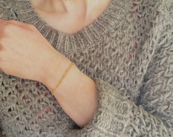 Gold Bead Bracelet, Gold Dainty Bracelet,  bead Bracelet, Stacking bracelet, 14K gold filled bracelet, simple bracelet, gift for her