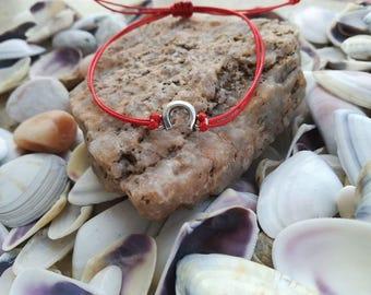 Shamballa Horseshoe Bracelet, Red String Bracelet, Kabbalah Bracelet, Good Luck Bracelet, Wish Bracelet, Amulet Bracelet, Evil Eye Bracelet