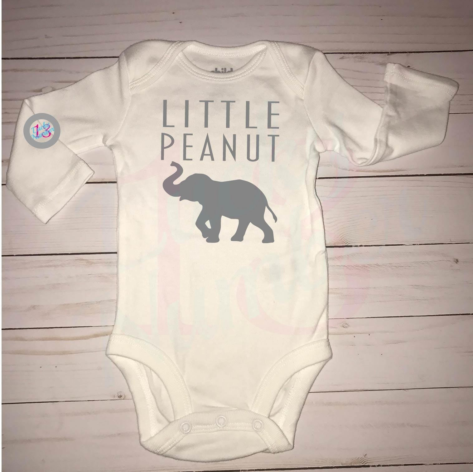 Little Peanut Baby Boy Elephants Baby Boy ing Home Outfit