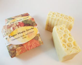 Oatmeal Milk Honey, Handcrafted Soap, Oatmeal Soap, Milk Soap, Artisan Soap, Home Therapy,  Exfoliating Soap, Moisturizing, Soap for Men