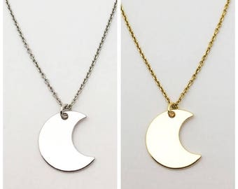 Necklace Luna Silver and gold Vermeil