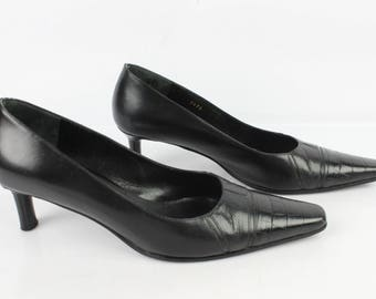 Vintage MANFIELD pumps all leather black Uk 5.5 / Fr 38.5 very good condition (1997)