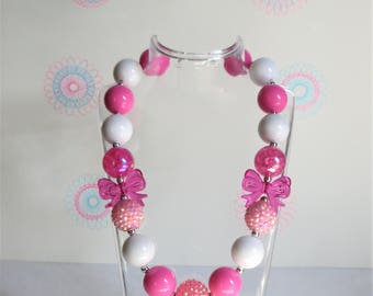 Little Girls Chunky Bubblegum Necklace, Toddler Necklace, Girls Jewelry, Chunky Bead Necklace, Bubblegum Necklace, Girls Bead Necklace