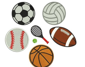 Volleyball Embroidery Design - 6 designs - machine embroidery INSTANT DOWNLOAD