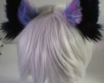 Super Fluffy Dusted Galaxy Kitten Ears