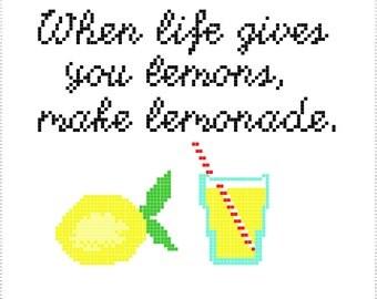 Cross Stitch Pattern When Life Gives you Lemons