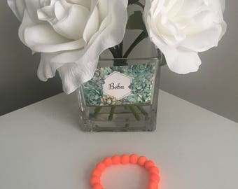 Summer Neon Orange Ruberrized Bracelet