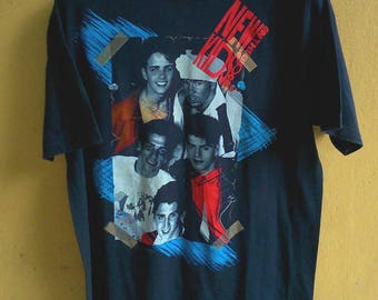 RaRe New kiDs on the Block No More Games Vintage 80s-90s shirt tees t shirt Size L