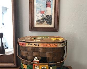 Authentic 1960s Caro Nan Basket Purse