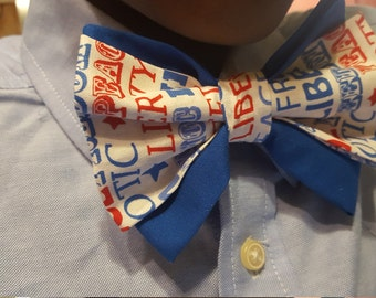 Red, White, & Blue Bow Tie