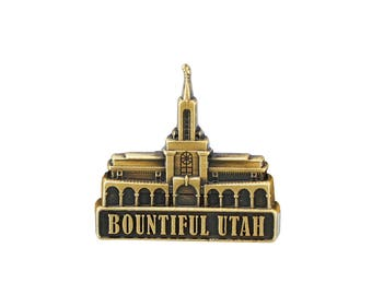 Bountiful Utah Temple Gold Pin - LDS Gifts