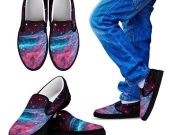 Custom Shoes - Kids slip on - Galaxy