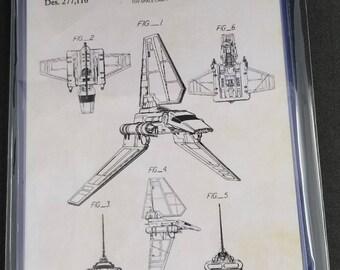Star Wars Ships Patent Art Prints Set