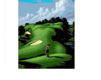 Fantasy Golf Cross Stitch Chart