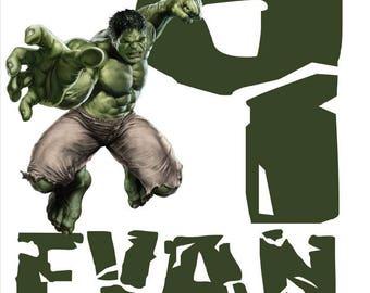 Hulk Iron On for Birthday Shirt - Digital File Only
