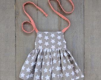 Modern Doll Clothes - Grey Star Halter Dress