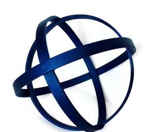 MODERN Metal Sculpture - Circles Geometric Hanging or Free Standing