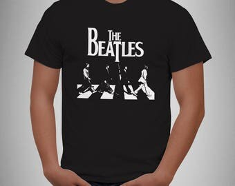 The Beatles - Black and white - retro rock music T Shirt Magical