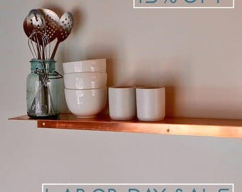 Floating Copper Shelf