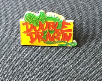 Double Dragon Pinback enamel arcade beat em all