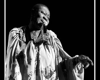 """fine art 30 x 30 cm black and white signed and numbered """"Calypso Rose"""""""