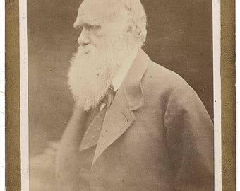 Charles Darwin signed autograph print