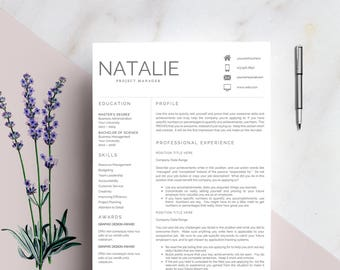 Resume Template For MS Word   LOUISE   1 U0026 2 Page Resume, Cover Letter