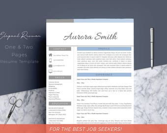Resume Template 4 page | CV Template + Cover Letter for MS Word | Instant Digital Download | Clean | Professional | Creative | Teacher