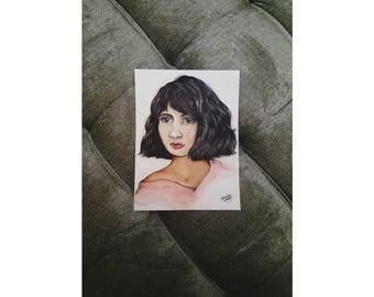 Sweet girl painting print