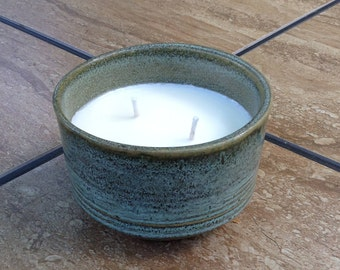 Handmade Pottery Soy Candle