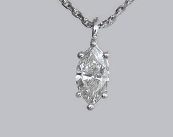 Diamond Pendant , 18k Gold, 14k Gold