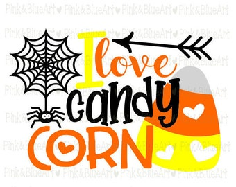 I love Candy Corn Halloween SVG Clipart Cut Files Silhouette Cameo Svg for Cricut and Vinyl File cutting Digital cuts file DXF Png Pdf Eps