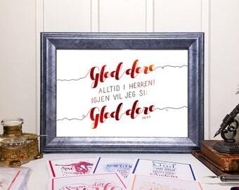 """GudsOrd """"Gled dere alltid i Herren!"""""""