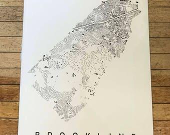Brookline, MA GIS Map Print
