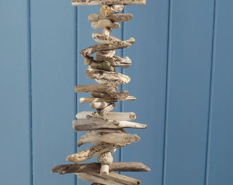 Natural driftwood and shell garland