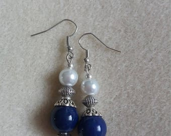 Navy blue with pearl effect
