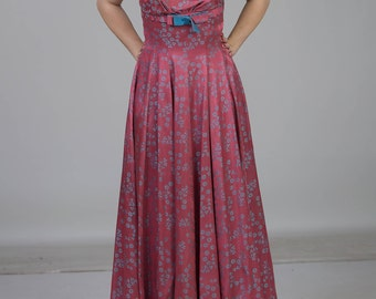 REAL vintage ball gown ca 50s hand M/38 tailored