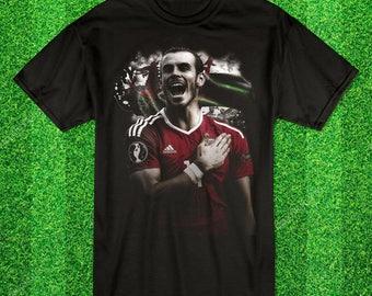 Gareth Bale Wales Pride Football tshirt